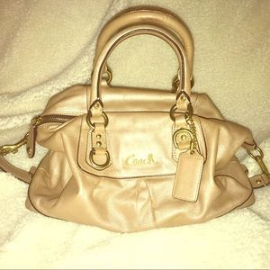 Champagne Gold Coach Bag